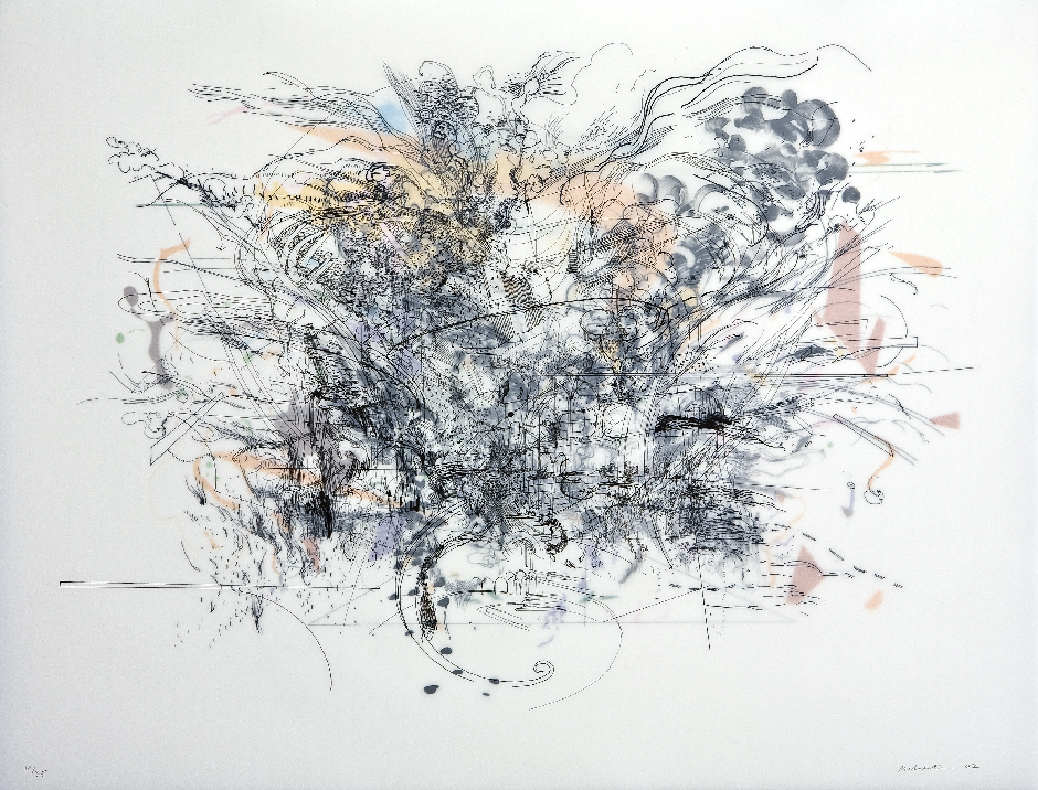 Julie Mehretu, Rogue Ascension, 2002