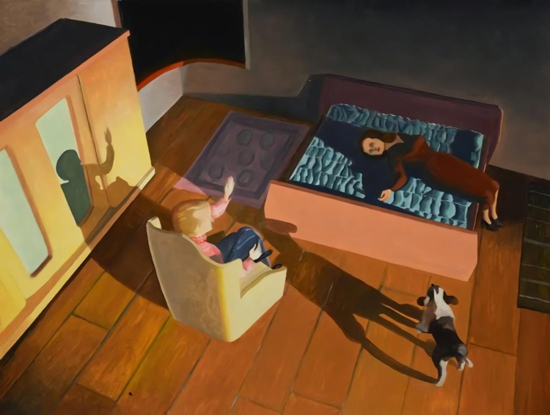 Kathy Osborn, Dog and Couple, 2015