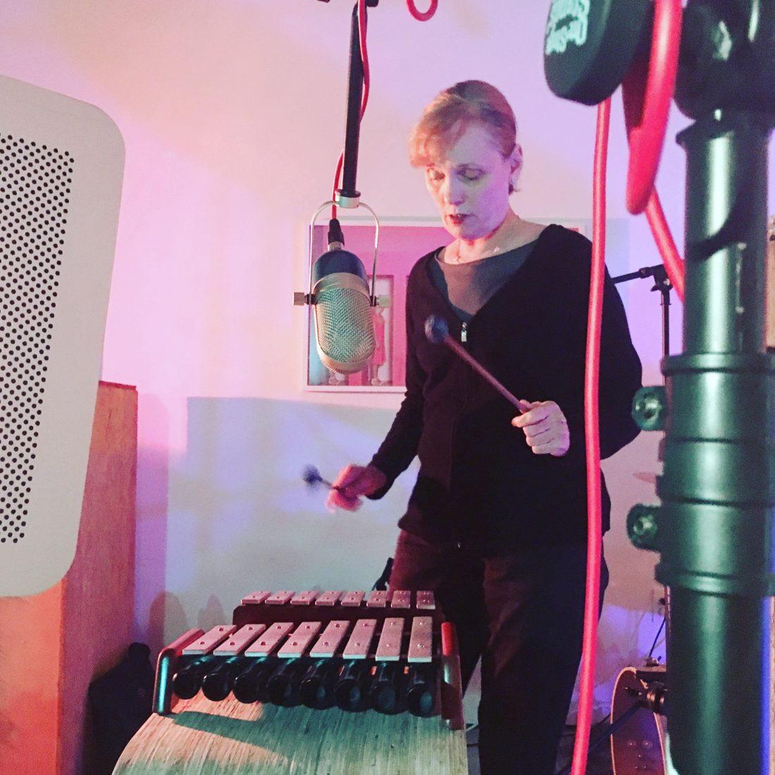 Margaret McInroe on the xylaphone
