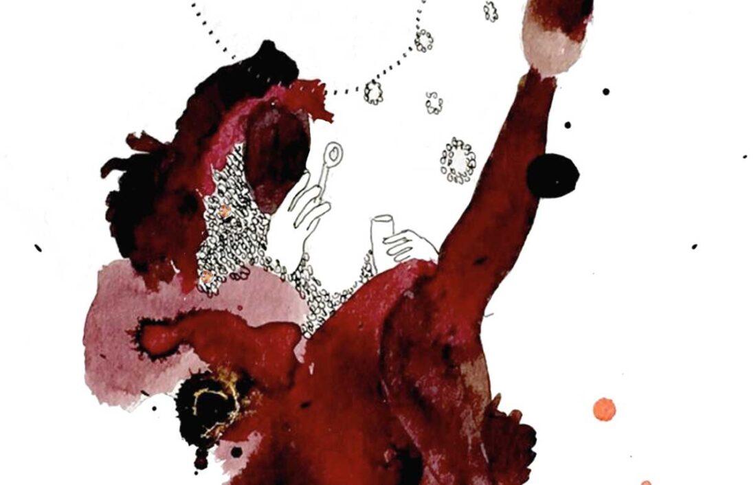 detail of artwork by Marielle Plaisir