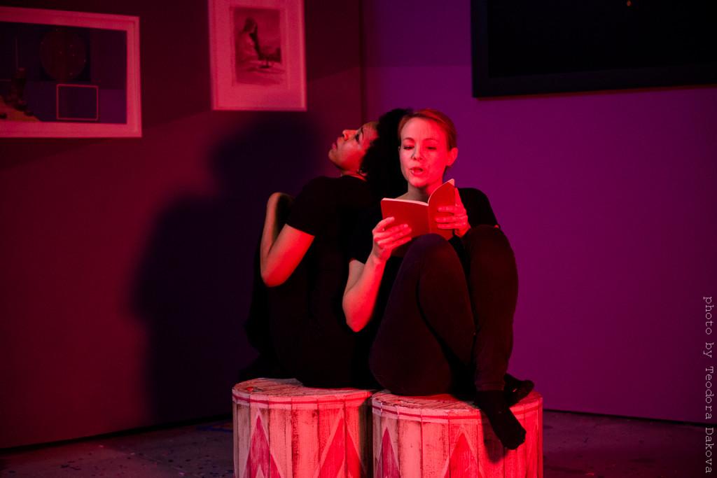 Theatrical Exquisite Corpse performance, photo by Teodora Dakova