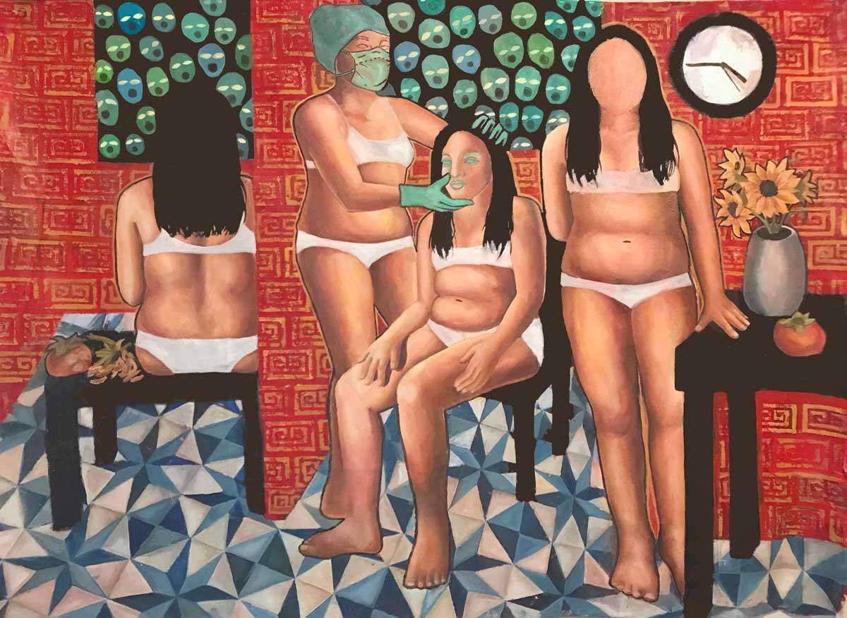 artwork by Caroline Zhang, Waiting Room