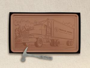 2lb Custom Logo Chocolate Bar Winter 2019