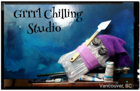 Grrrl Chilling Studio by J.A. Kauppinen