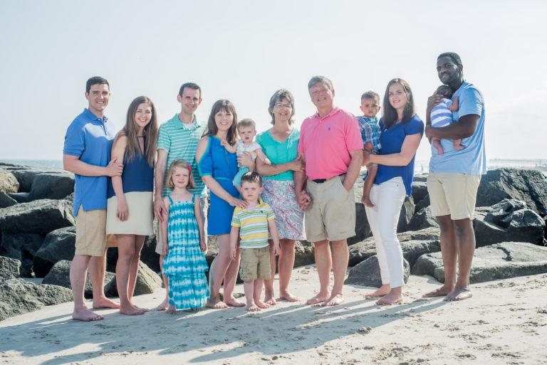 Professional Family Beach Portraits in Ocean City NJ
