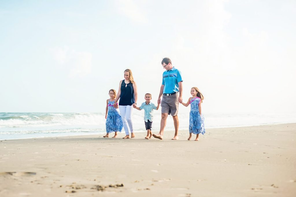 Family Beach Portraits in Fenwick Island