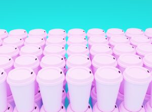 pink plastic travel mug lot