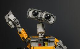yellow and gray robot toy