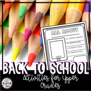 Back to School | Get to Know You Activities