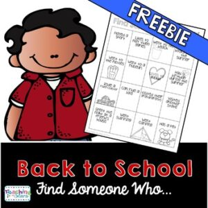 Back to School: Find Someone Who… Getting to Know Your Class