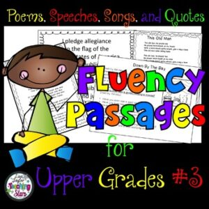 Fluency Reading Passages for Upper Grades Packet #3