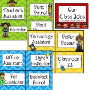 Classroom Jobs~ Creating a Classroom Community