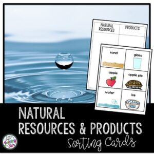 Natural Resources Sorting Cards
