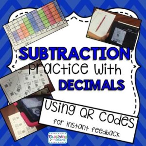 Subtraction with Decimals Task Cards