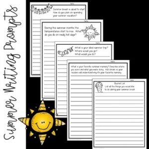 Summer No-Prep Writing Prompts and Google Journal Prompts