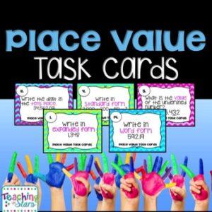Place Value, Decimals, Expanded Form, & Standard Form Task Cards