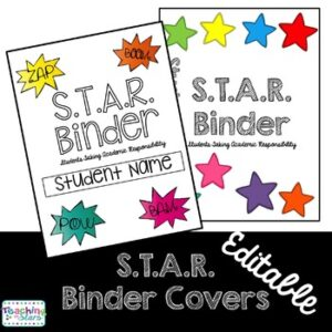 S.T.A.R. Binder Covers Editable