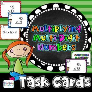 Multiplying Multi-Digit Numbers Activity