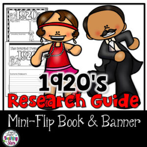 1920's Research Flip Book and Banner