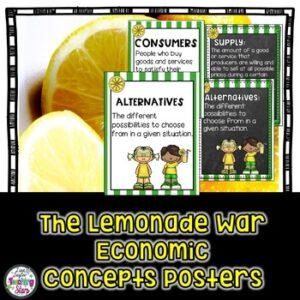 Lemonade War Economic Vocabulary Posters
