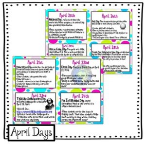 April Everyday is a Holiday