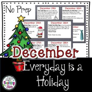 December Activities: Everyday is a Holiday