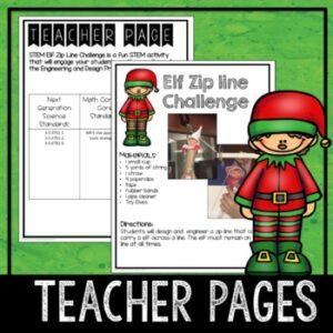 Christmas Elf Zip Line STEM Challenge