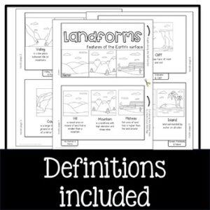 Landforms Flip Book