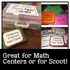 Math Task Cards Multiplying Mixed Numbers by Mixed Numbers