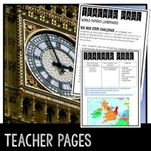 STEM Big Ben Activity and Research Guide
