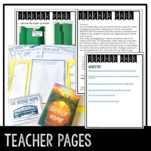 Novel Lapbook and STEM Activities to use with The Bridge Home