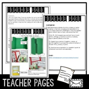 Novel Lapbook to use with Dear Hank Williams