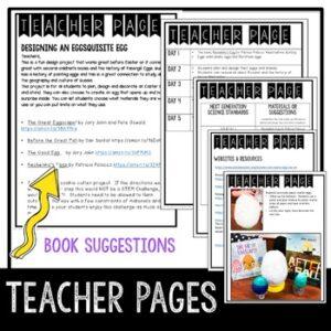 STEM Egg Design Activities | Literature Connection The Great Eggscape!