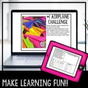 STEM Paper Airplane Challenge | Distance Learning | Google Classroom | Digital