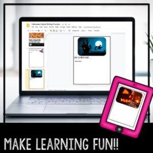 Digital | Halloween Writing Prompts | Google Classroom