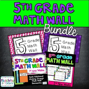 5th Grade Math Wall