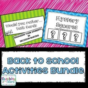 Back to School Activities Bundle: Icebreakers to Get to Know Your Students
