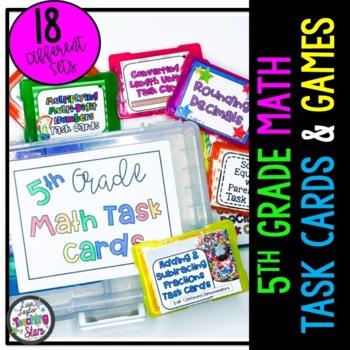 5th Grade Math Task Cards