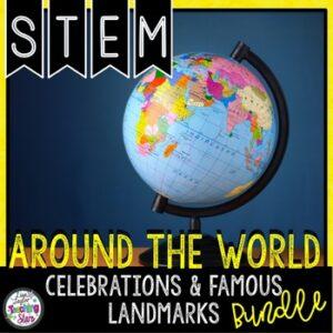 STEM  World Landmarks and Celebrations Activities Bundle Distance Learning