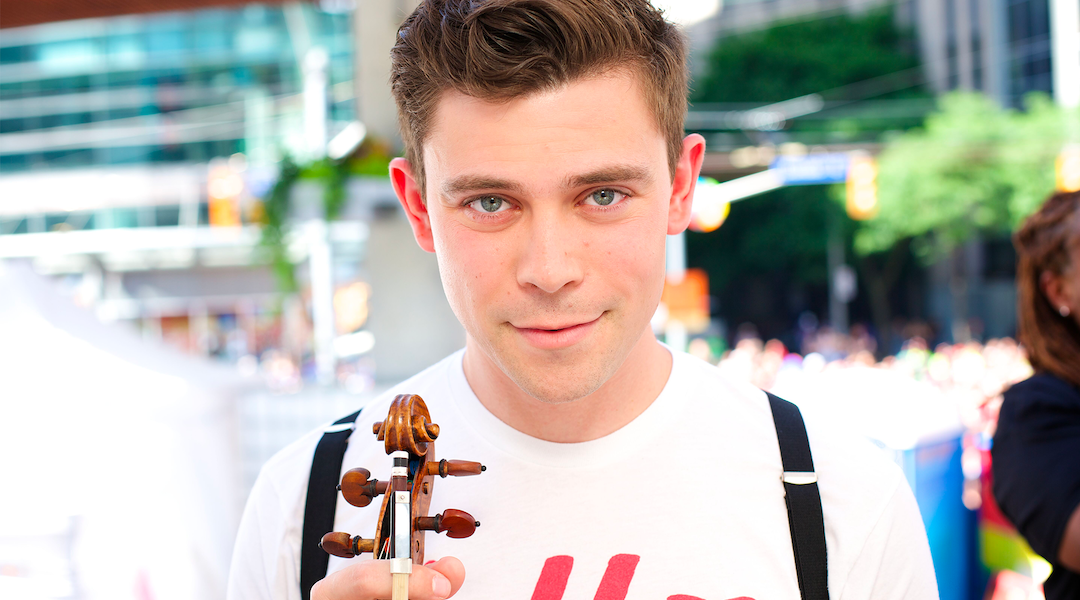 He Plays the Violin