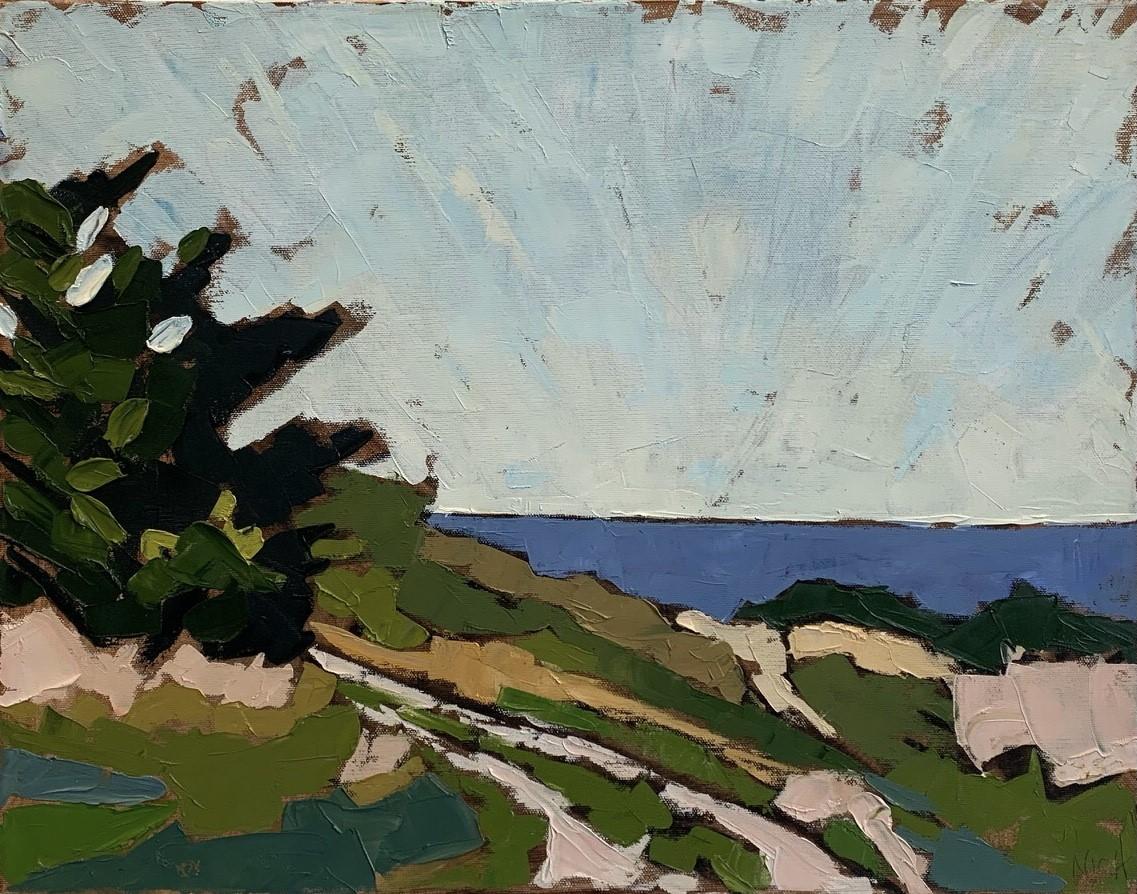 """Nicholas Peterson-Davis, Truro Scene (oil on canvas, 16"""" x 20""""), Stewart Clifford Gallery"""