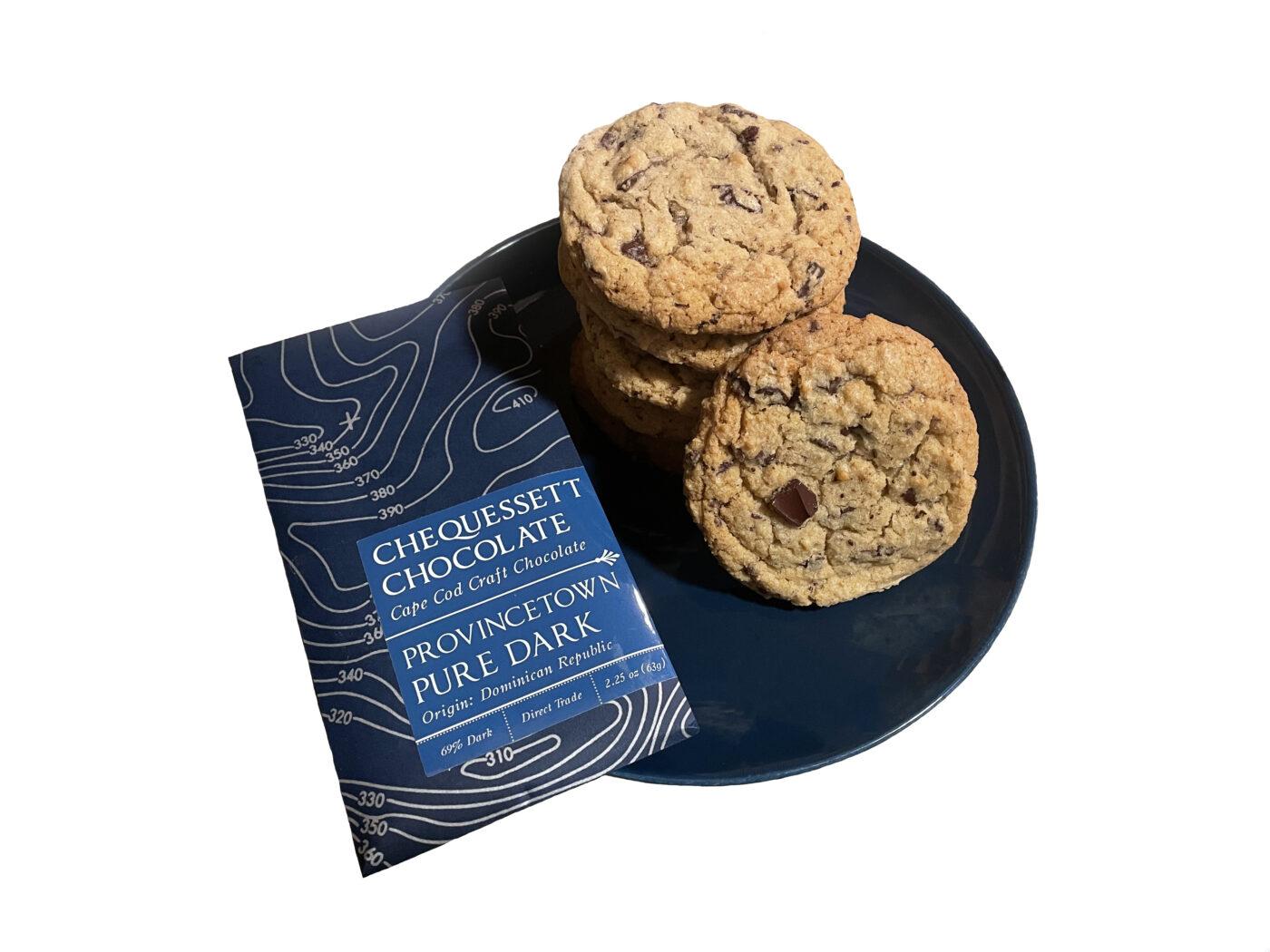 Chequessett Chocolate Pure Dark Chocolate Chunk Cookies