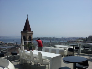 the view from the terrace at 360 Istanbul - site of one of my favorite meals this year