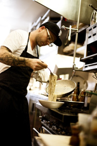 Locanda chef making pasta - one of my best meals of 2015