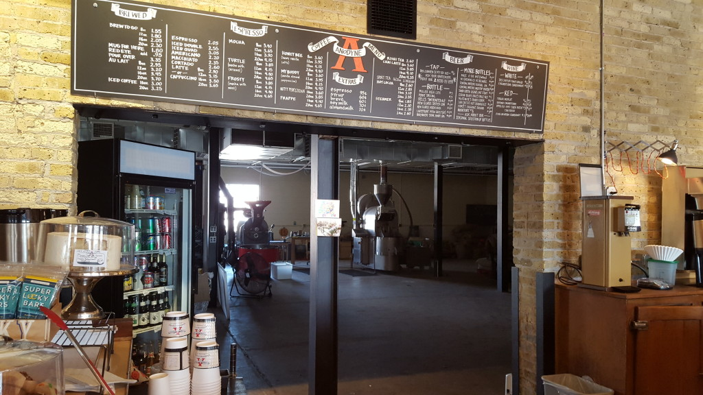 Anodyne - the menu at the Walker's Point location, and coffee roastery in back. i8tonite: A Cheat Sheet to Eating in Milwaukee