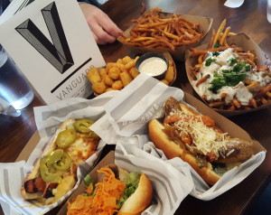 Sausages, poutine, fries, cheese curds from Vanguard. i8tonite: A Cheat Sheet to Eating in Milwaukee