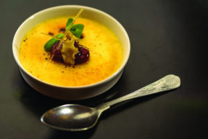 Rhubarb and Ginger Crème Brûlée Recipe by Chef Tim O'Sullivan of Renvyle House in Connemara, Co. Galway. From The New Irish Table: Recipes from Ireland's Top Chefs