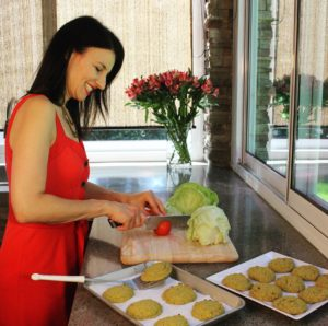 Cooking at my outdoor kitchen. i8tonite with Oy Vey Vegan Author Estee Raviv & Vegan Stuffed Peppers Recipe