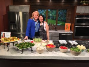 cooking segment on TV. i8tonite with Oy Vey Vegan Author Estee Raviv & Vegan Stuffed Peppers Recipe