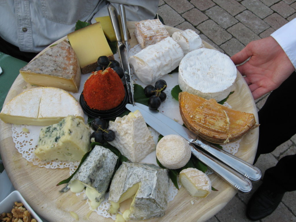 Cheese plate, Normandy (Eat Smart in France). From i8tonite with Eat Smart in Portugal Author Ronnie Hess & Vegetable Frittata Recipe